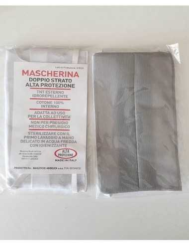 MASCHERINA DOPPIO STRATO ALTA PROTEZIONE 1PZ MADE IN ITALY