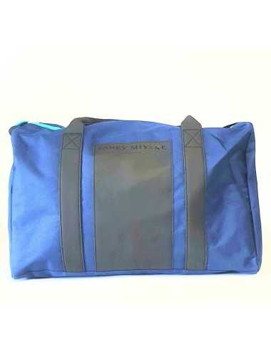 ISSEY MIYAKE TRAVEL BAG UOMO BLU/NERO