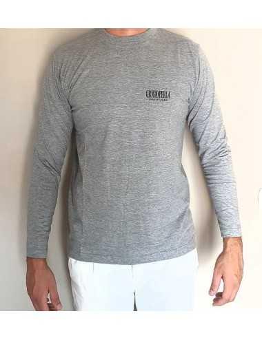 Grigioperla T-Shirt Maniche Lunghe Tg.L 100% Cotone (Grigio)