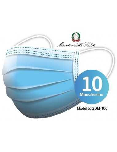 MASCHERINE CHIRURGICHE MONOUSO 10 PZ
