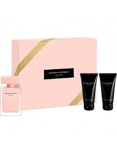 NARCISO RODRIGUEZ FOR HER COFFRET EDP 50ML+BODY 50ML+BAGNO 50ML
