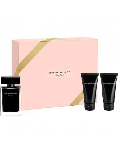 NARCISO RODRIGUEZ FOR HER COFFRET EDT 50ML+BODY LOT 50ML+SHOWER 50ML