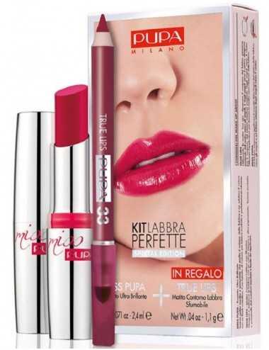 Pupa Kit Labbra Perfette Ros. Miss Pupa N° 308 + Matita Labbra N° 33