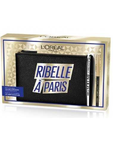 L Oreal Coffret Mascara Mega Volume9Ml+ Le Liner Signature + Pochette