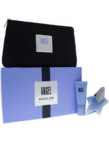 Thierry Mugler Angel Edp 25 Ml Ricaricabile+Crema Corpo 50 Ml+Pochette