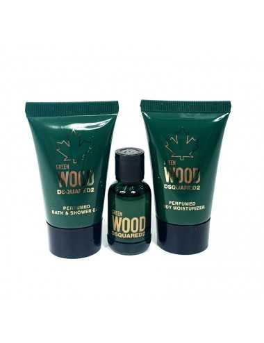 Dsquared Green Wood Kit Edt 5 Ml+Shower Gel 25 Ml+ Body Lotion 25 Ml