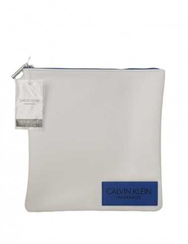 Calvin Klein Borsello Multiuso Quadrato Unisex Bianco&Blu