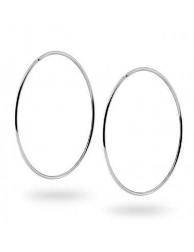 Orecchini A Cerchio Mm 62 Con Canna Tubolare Mm 1.7 In Argento 925