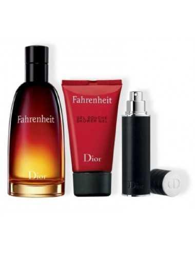 Dior Fahrenhit Cofanetto Edt 100Ml +Travel Spray 10Ml+ Shower Gel 50Ml